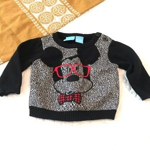 Disney Nerd Mickey Baby Sweater Size 0 to 3 Months